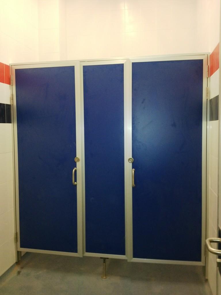 Betriebsraumtüren für WC mit Trennwand