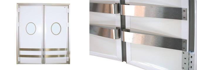 Pendeltür VV 40 mm aus lackiertem Stahlblech/PVC/Edelstahl V2A