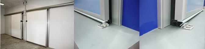 Kühl- und Gefrierraumschiebetür SCR (Industrieschiene)